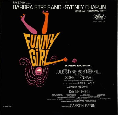 Funny Girl Album Cover from 1966 Broadway Show