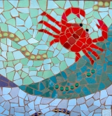 Red Crab Mosaic
