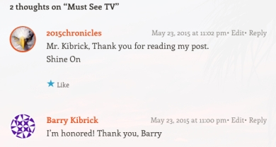Barry Kibrick Comment