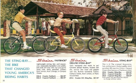 schwinn sting ray catalog