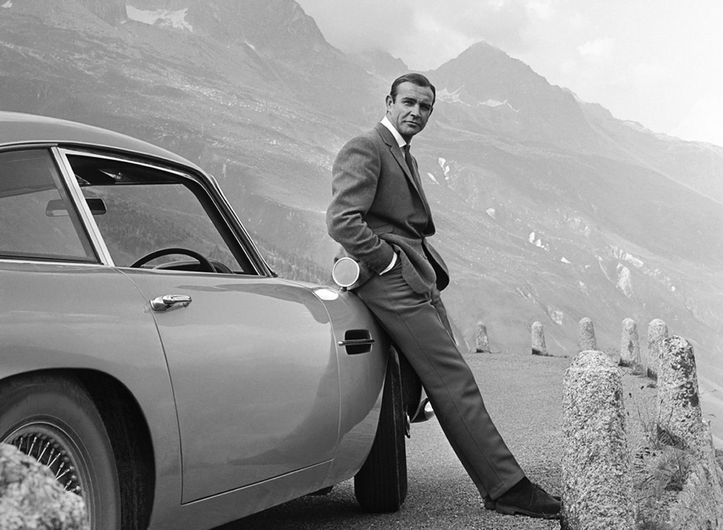 Goldfinger - Sean Connery Leaning against 1964 Aston Martin DB5